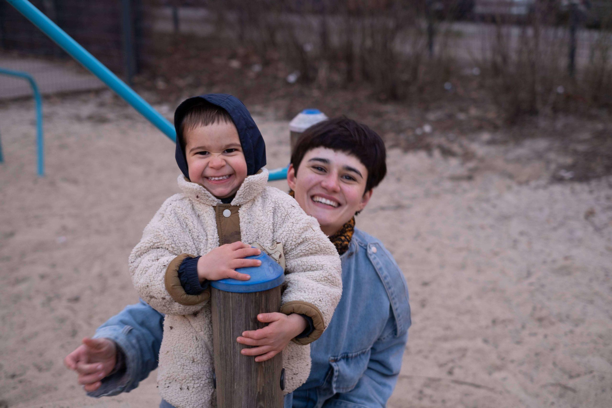 Carolina and her son Otto