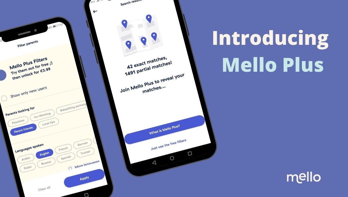 Lerne Eltern aus deiner Nähe kennen - Join Mello - Find your village - Mello App